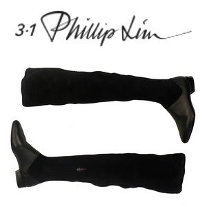 3.1 PHILLIP LIM leather & suede over the knee boot